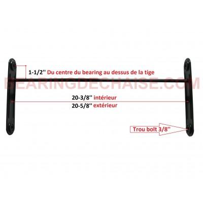Balancier (20-3/8'' X 1-1/2'') NOIR