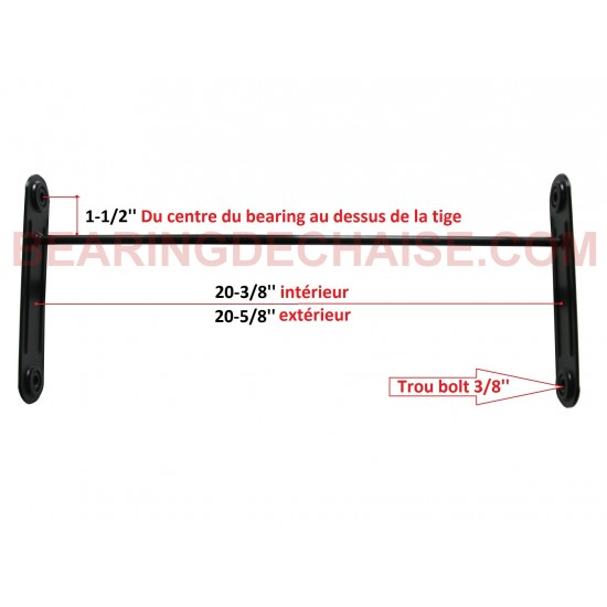 BLACK Metal bearing Arm (20-3/8'' X 1-1/2'')