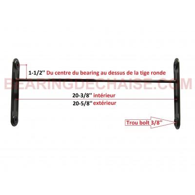 Balancier (20-3/8'' X 1-1/2'') TAUPE